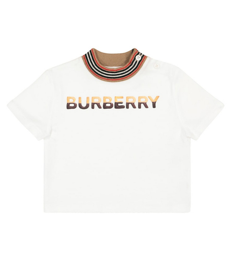 Burberry Kids Baby logo cotton T-shirt in white