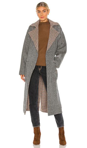 Nanushka Alamo Coat in Grey