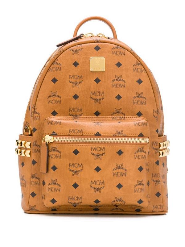 MCM Kaave logo backpack in brown