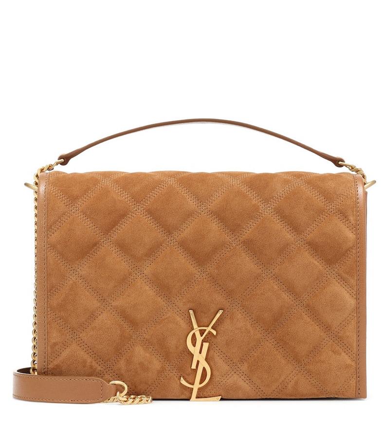 Saint Laurent Becky Small suede shoulder bag in brown
