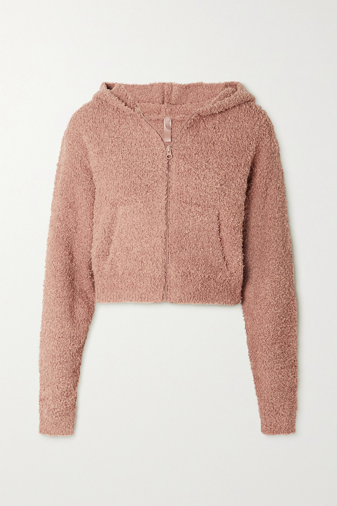 SKIMS - Cozy Knit Bouclé Hoodie - Rose Clay in pink