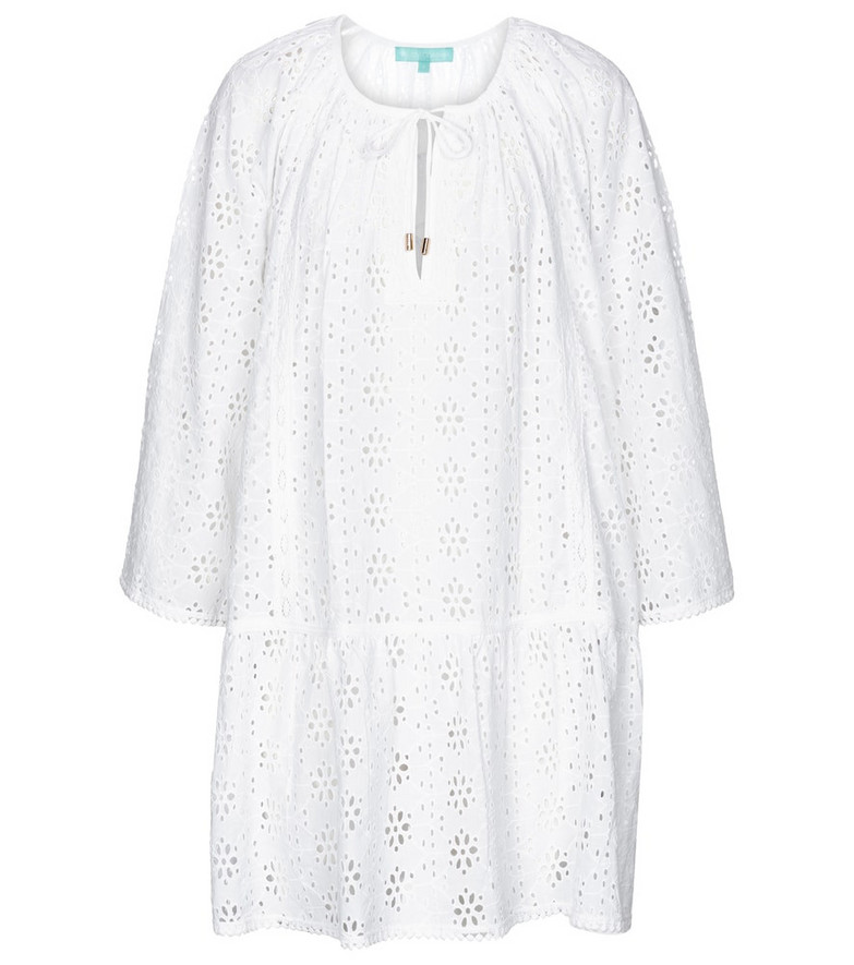 Melissa Odabash Corina broderie anglaise kaftan in white