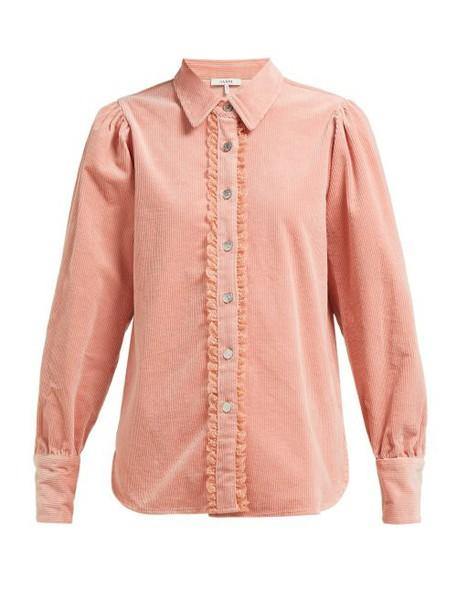 Ganni - Ridgewood Corduroy Shirt - Womens - Light Pink