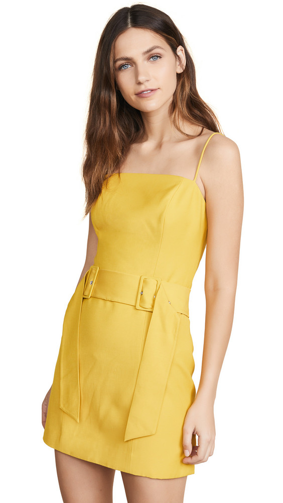 C/Meo Collective Silenced Dress in yellow
