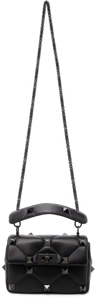 Valentino Garavani Black Medium Roman Stud Bag