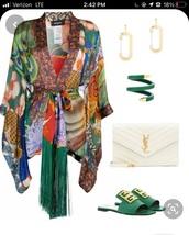 dress,colorful,long sleeve dress,silk dress,classy,formal dress,coachella,thigh high boots,sandals,silk,soft