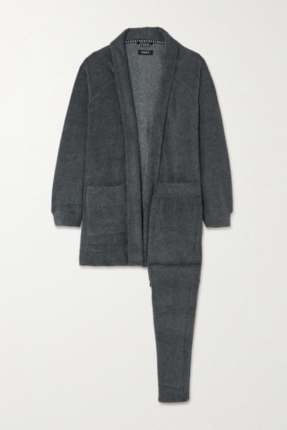 DKNY - Fleece Cardigan And Track Pants Set - Gray