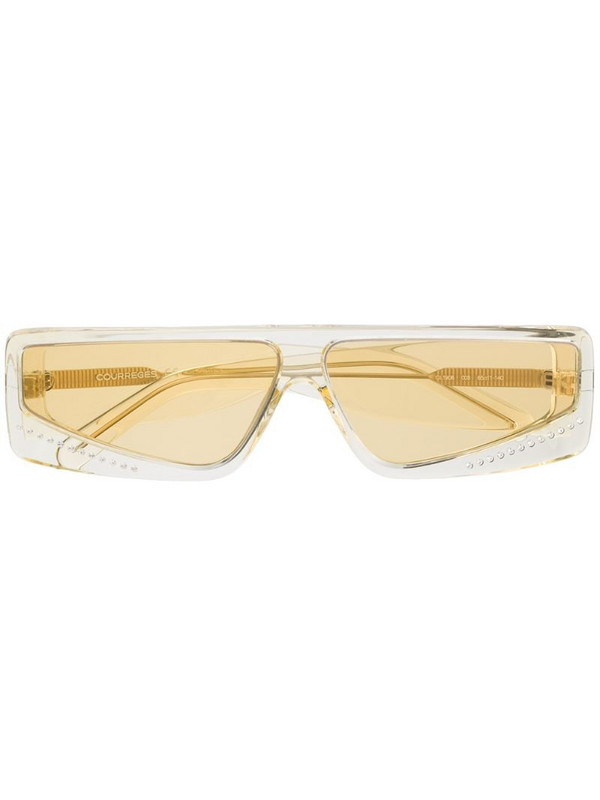 Courrèges Eyewear cat-eye frame tinted sunglasses in yellow