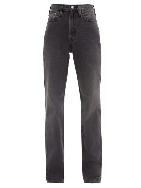 Frame - Le Jane Straight-leg Jeans - Womens - Dark Grey