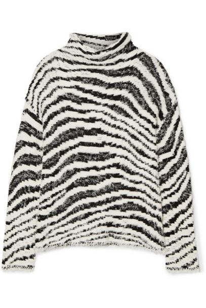 By Malene Birger - Dianella Zebra-intarsia Cotton-blend Turtleneck Sweater - White