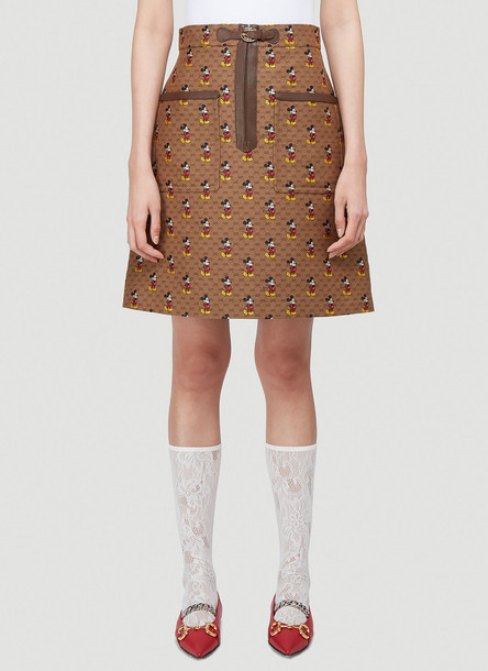 Gucci X Disney Mickey Mouse Skirt in Brown size IT - 40