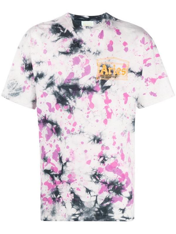 Aries tie-dye print T-shirt in purple