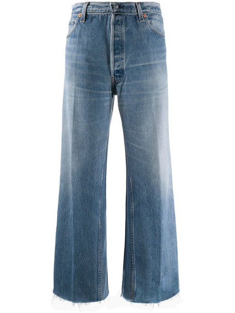 RE/DONE straight-leg cropped jeans in blue
