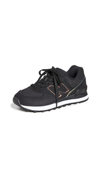 New Balance 574 Classic Sneakers in black / white