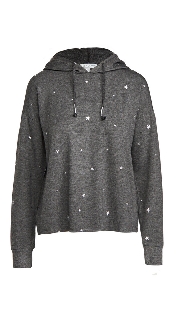 PJ Salvage Shine Star Hoodie in charcoal