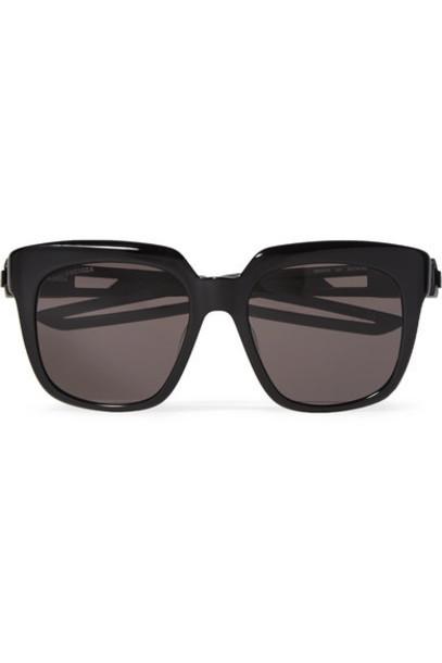 Balenciaga - Oversized Square-frame Acetate Sunglasses - Black