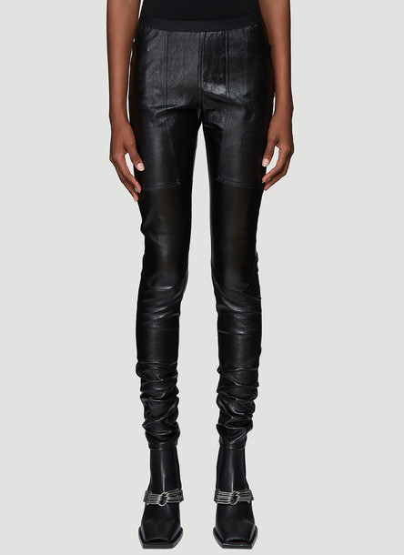 Rick Owens Leather Leggings in Black size IT - 42
