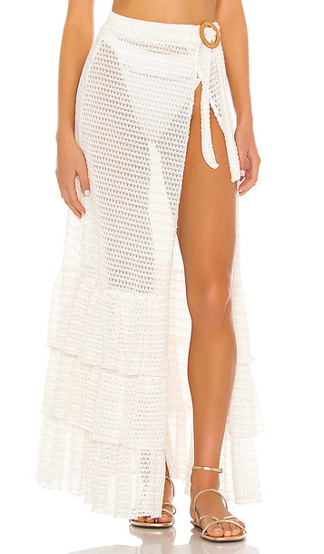 Tularosa Cayman Wrap Skirt in White