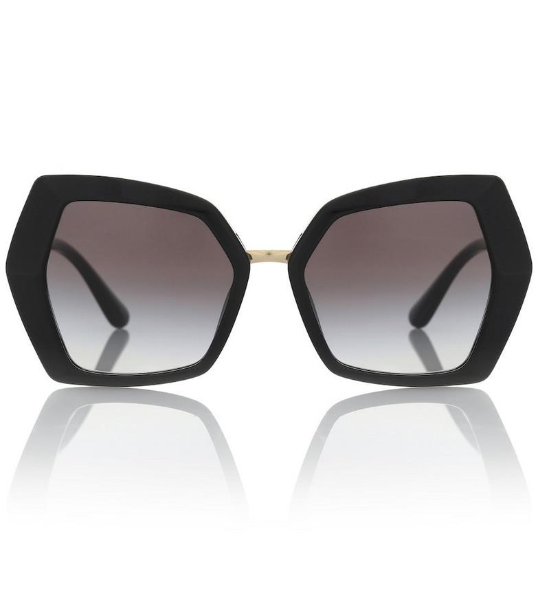Dolce & Gabbana DG Monogram oversized sunglasses in black