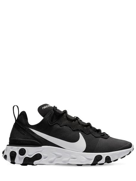 NIKE React Element 55 Sneakers in black
