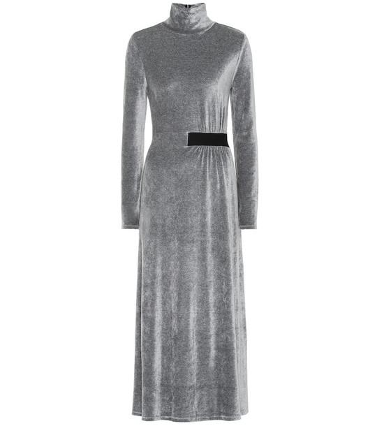 Dorothee Schumacher Soft Twist velvet dress in grey