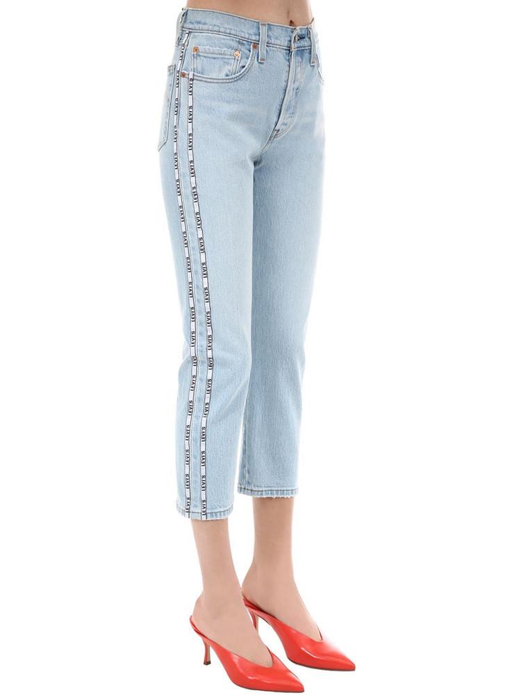 LEVI'S RED TAB 501 Crop High Waist Denim Jeans in blue