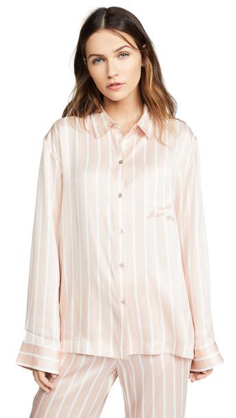 ASCENO PJ Top in blush / white