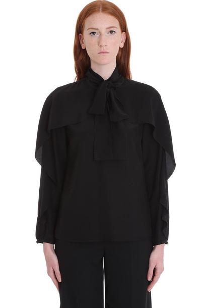 RED Valentino Shirt In Black Cotton