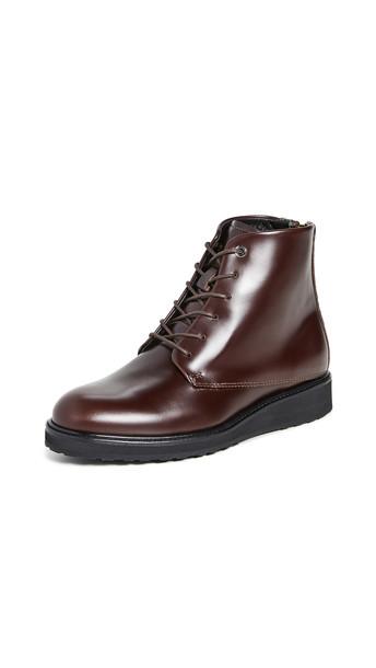 WANT Les Essentiels Menara High Wedge Derby Boots in black / brown