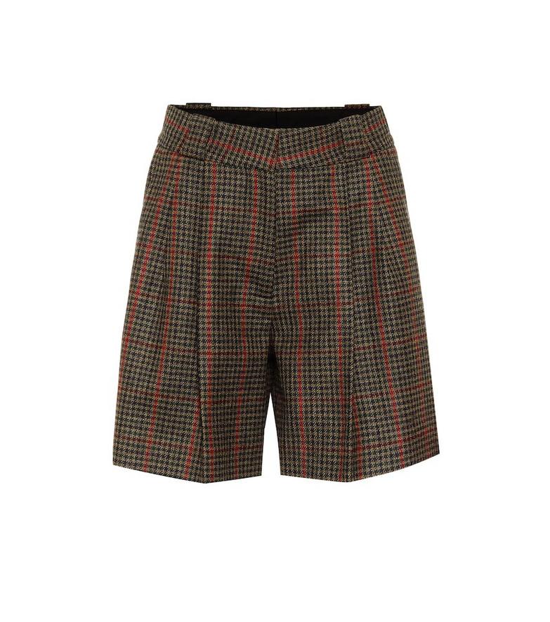 Blazé Milano Fell checked wool shorts in green