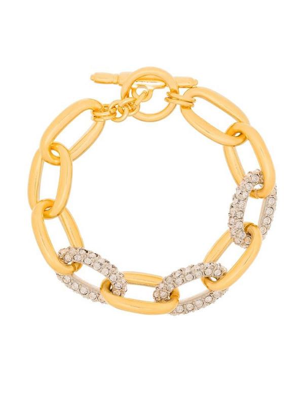 Kenneth Jay Lane crystal-embellished chain bracelet in gold