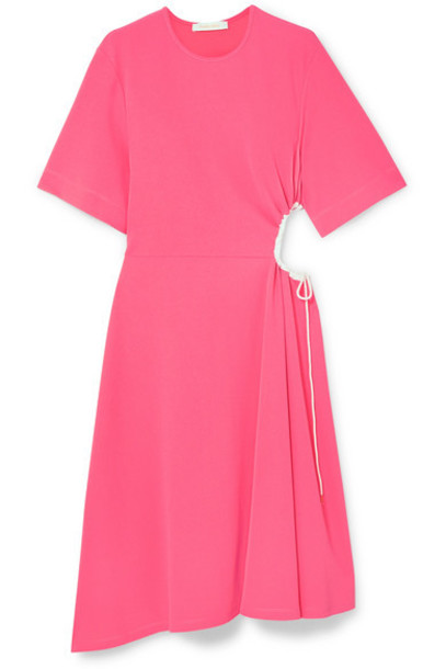 See By Chloé See By Chloé - Cutout Stretch-crepe Dress - Pink