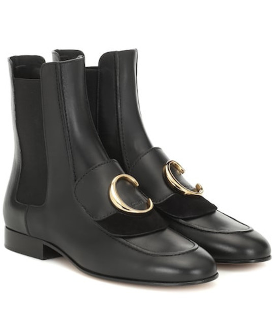 Chloé Chloé C leather ankle boots in black
