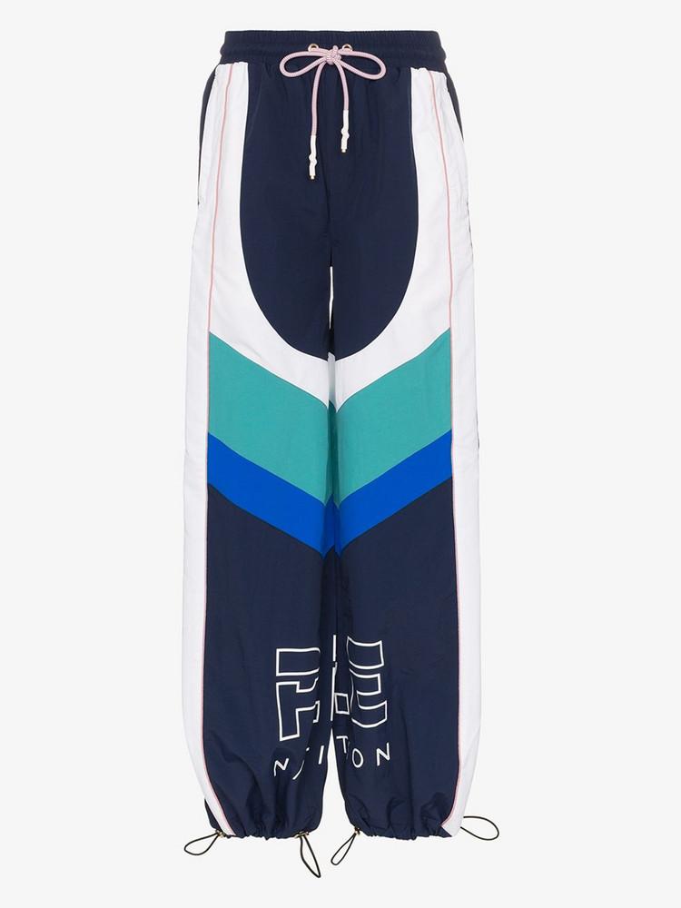 P.E Nation electric eye colour block sweatpants in blue