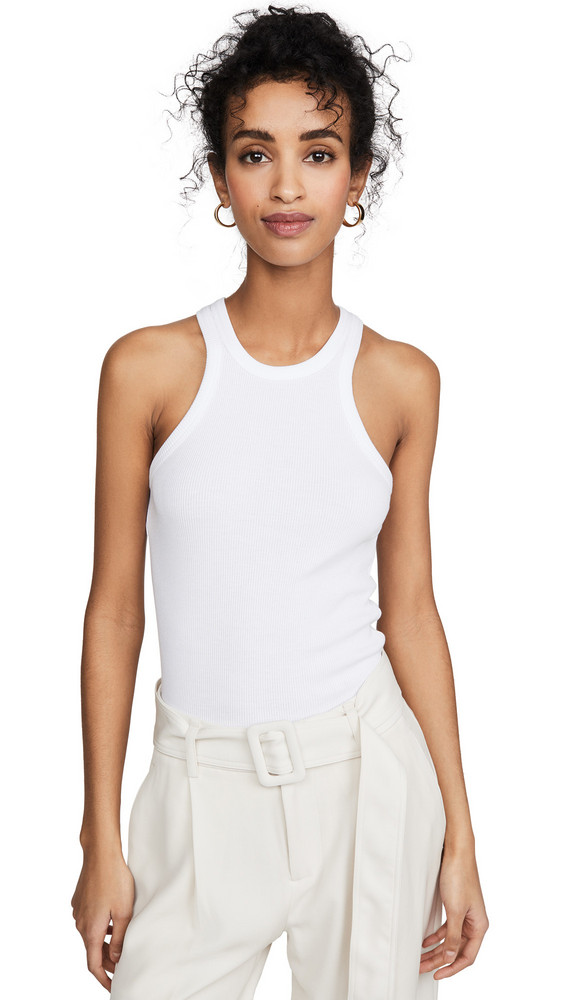 Theory Racer Tank in white