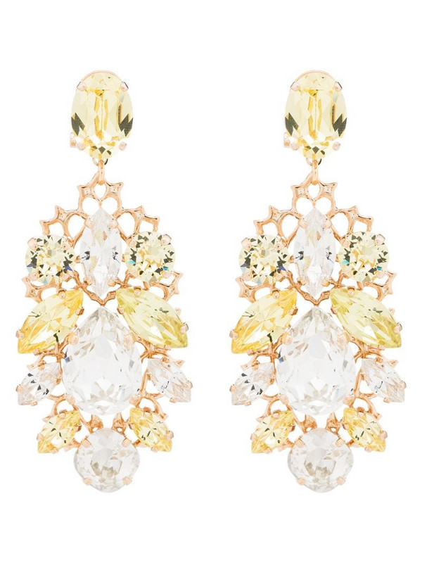 Anton Heunis crystal cluster earrings in yellow