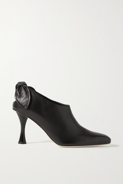 Proenza Schouler - Knotted Leather Pumps - Black