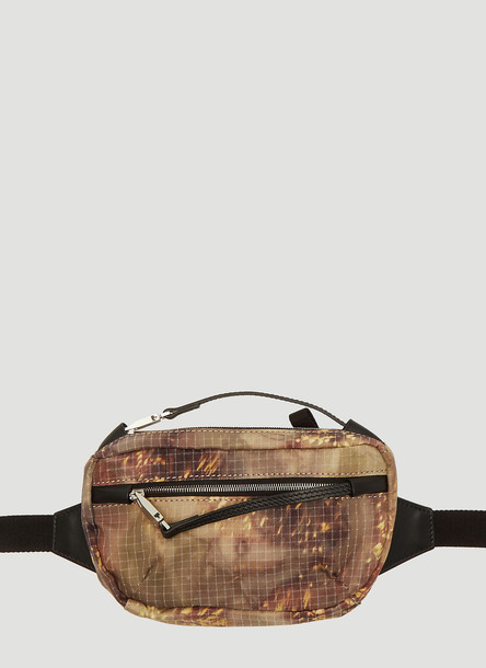 1017 ALYX 9SM Camouflage Print Belt Bag in Brown size One Size