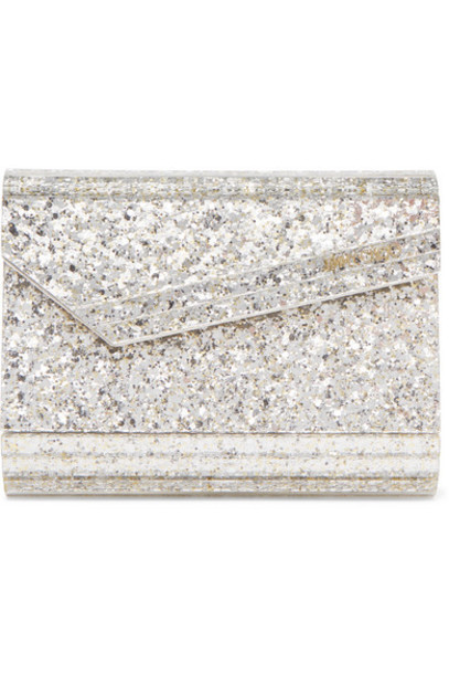 Jimmy Choo - Candy Glittered Acrylic Clutch - Silver