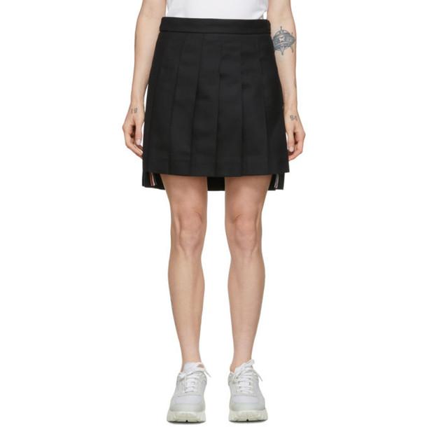 Thom Browne Black Low-Rise Miniskirt