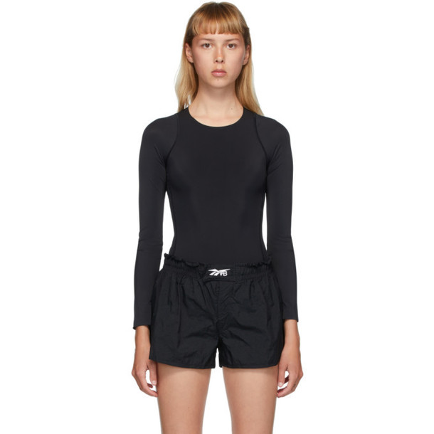 Reebok By Victoria Beckham Black VB Long Sleeve Bodysuit