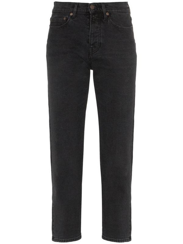 Jeanerica straight leg cropped jeans in black