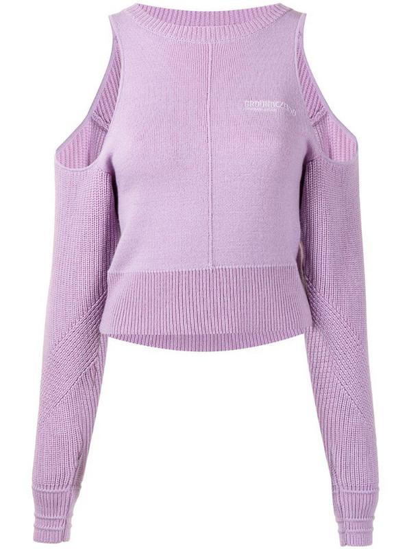 Ground Zero open-shoulder sweater in purple