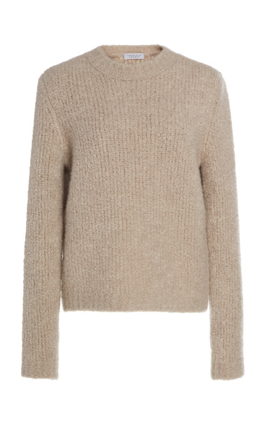 Gabriela Hearst Philippe Cashmere And Silk Blend Boucle Sweater Size: in neutral