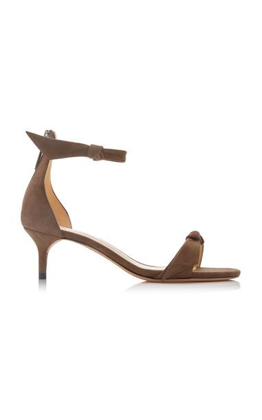 Alexandre Birman Clarita Suede Sandals in brown