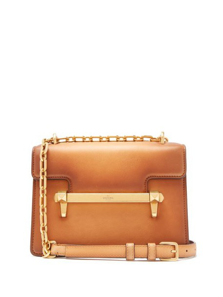 Valentino - Uptown Small Leather Cross Body Bag - Womens - Tan