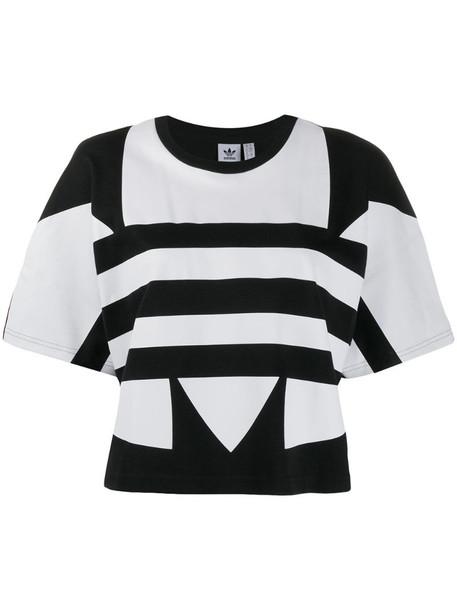 adidas large logo short-sleeve T-shirt in black