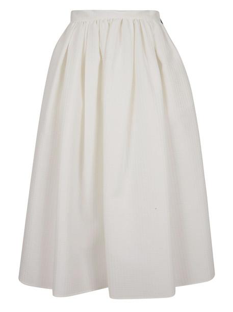 Msgm Flared Skirt in white