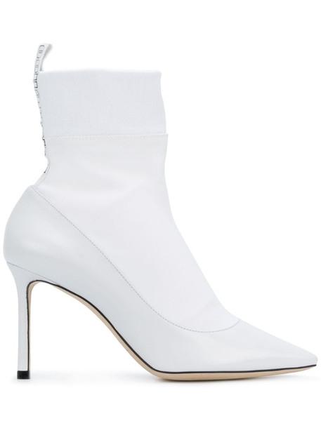 Jimmy Choo Brandon 85 boots in white