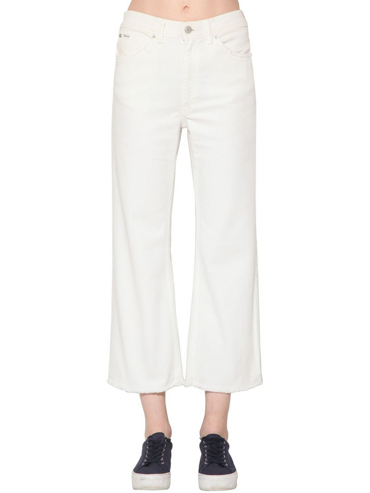POLO RALPH LAUREN Wide Leg Denim Jeans in white